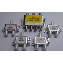 Chave Comutadora C/saída Pra 4 Receptor Digital + 4 Diplexer