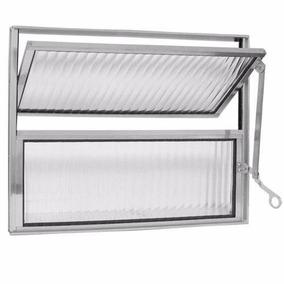 Vitro De Aluminio Basculante Banheiro 0,40x0,40 Belli#