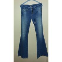 Jeans Studio F Acampanado Tres Botones Talla 26 Envío Gratis