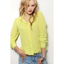 Camisa Clasica Chiffon Blanco-rojo-amarillo
