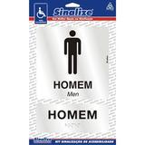 Placa Sinalização Alumínio Em Braile Banheiro Masculino Home