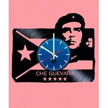 Che Guevara Fidel Castro- Relógio De Parede - Disco De Vinil