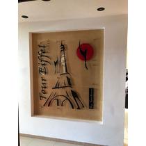 Cuadro Minimalista Torre Eiffel Francia Diseño Decoracion