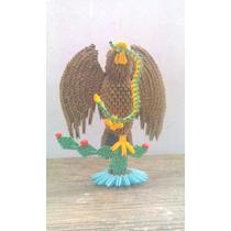 Escudo Nacional Mexicano De Origami 3d