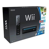 Consola Nintendo Wii Negro Con Wii Sports Y Wii Sports Reso