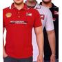 Kit Lote Com 5 Camisa Gola Ferrari Masculina Bordada Atacado