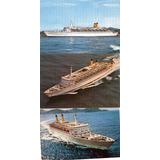 3 Tarjetas Postales Del Crucero Eugenio C