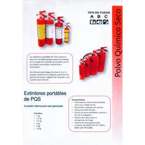 Extinguidor Tipo Abc Polvo Químico 6 Kgs