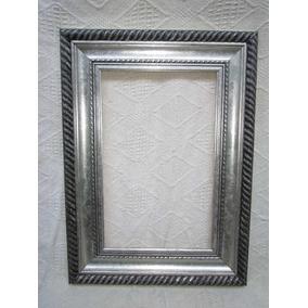 espejos en madera plateado en 7 cm 170x55