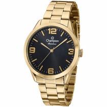Relógio Champion Masculino Dourado Esporte Wr 50 Mt Cn29892u