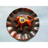 Boton Antigo Lions Club Metal Broche Tipo Cobre Anos 70