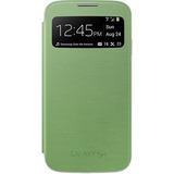 Capa S View Galaxy S4 Lacrado Verde Na Caixa Envio Grátis