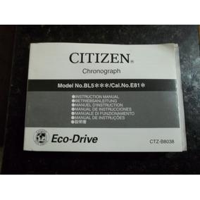 Citizen - Manual Para Modelo Eco-drive (ctz-b8038) - Raro!