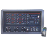 Mezcladora Amplificada 6ch Efectos Usb Eq Bluetooth Kaiser