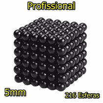 Neocube Cubo Magnético 216 Esferas 5mm Preto Imã Neodímio