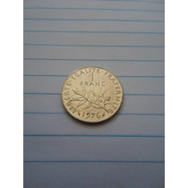 Leilão Moeda França 1 Franc 1976 Republique Francaise