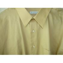 Camisa De Vestir Geoffrey Beene Satinada Xl Cuello 17/2