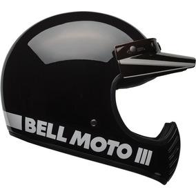 Capacete Bell Moto 3 Preto Brilhante Classic Tam 62