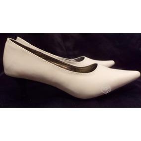 Zapatos De Huasa Nuevos Blancos Muy Cómodos Taco De 5 Cm