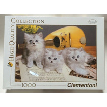 Puzzle Clementoni 1000 Peças Fofo Gatinhos Gatos Em Partitur