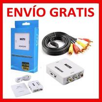 Convertidor Hdmi A Vga Envío Y Cable Triple Rca Gratis