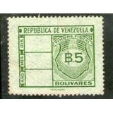 Timbre Fiscal 5 Bolivares (i.p.z.s. - Roma) Años 60
