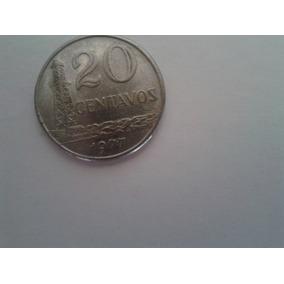 Moeda 20 Centavos 1977 Brasil