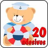 20 Adesivos Urso Marinheiro Com Frete Grátis Alta Resolução