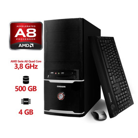 Pc Premium 1 Coradir Amd A8 7650k 3.8 Ghz 4gb 500gb W8.1+kit