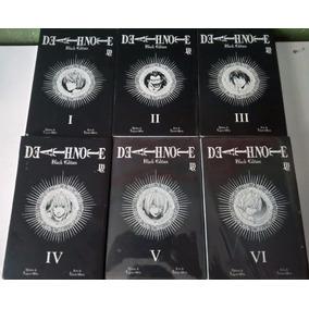 Mangá Death Note Black Edition Completo Vol 1 Ao 6