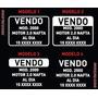 Cartel Vendo Auto / Vendo Moto / Sticker Vendo X3 Unidades