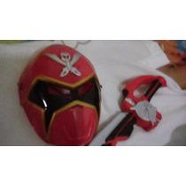 Disfraz Importado Mascara,espada,músculo Power Rangers Rojo