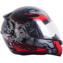 Capacete Esportivo Moto Ebf E0x Dragão Preto 58 Casco Abs
