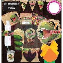 Kit Imprimible Dinosaurios Fiesta Piñata Bolo Invitaciones
