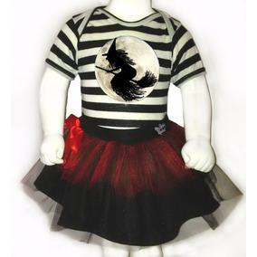 Disfraz Halloween Para Bebes - Pañalero+tutu- Bruja