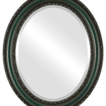 Espejo De Pared Dorset Framed Oval In Hunter Green, 27 X39