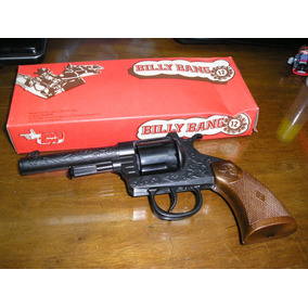 Juguete Antiguo Revolver Metal Cebitas Billy Bang 12 Tiros