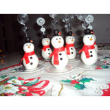 10 Lembrancinhas De Natal Em Biscuit* Boneco De Neve*