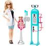 Barbie Doctora Ojos Playset Cmf42 - Blanco