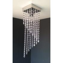 Lustre Cristal Acrílico Sala Jantar Quarto Banheiro 12x40cm