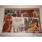 Cartulina De Cine De La Película La Historia De San Michele