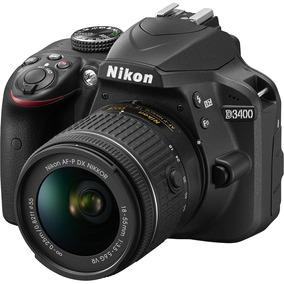 Câmera Nikon D3400 Com Lente Af-p 18-55mm
