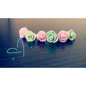 Mini Flores Porcelana Fria Todos Los Colores 1 Cm Florcitas
