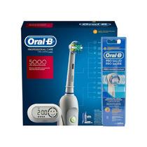 Kit Escova Digital Oral B 5000 Com Refil Precision Clean