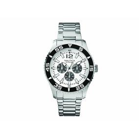 Reloj Nautica Cronografo A15657g Acero Envio Gratis