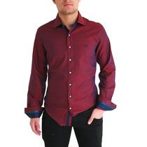 Camisas Vinho Para O Mesmo Frete Slim Furta Cor Estilosa