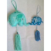 30 Elefantitos Souvenirs De Tela + 1 Elefante Central Grande