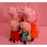 Peppa Pig - Kit 4 Bonecos De Pelúcia Pepa Com Frete Grátis!
