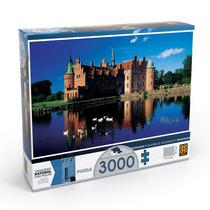 Quebra Cabeça Grow 3000 Castelo Egeskov E Porta Puzzle 8000