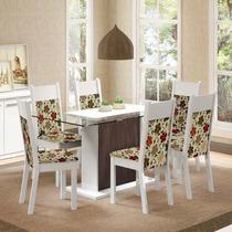 Conjunto Sala De Jantar Mesa E 6 Cadeiras Atlanta Madesa
